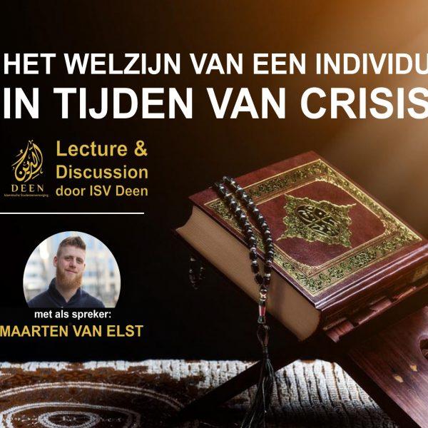 Lezing & Discussie Welzijn in Coronatijd met Maarten van Elst